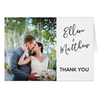 Baie d'été - carte de remerciements de mariage