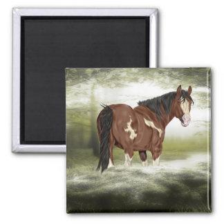 Baie et cheval de peinture d'Overo d'éclaboussure Aimant