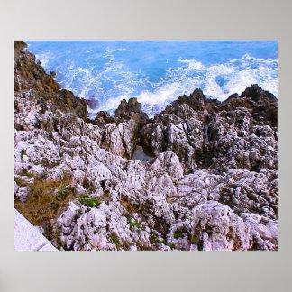 Baie rocheuse méditerranéenne la Côte d Azur agré Posters