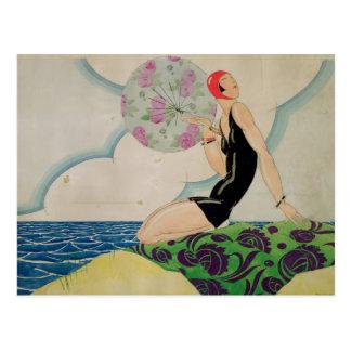 Baigneur, c.1925 carte postale