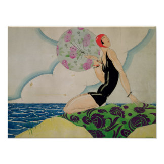 Baigneur, c.1925 poster