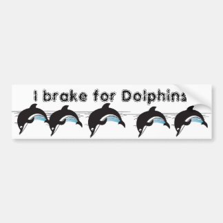 Bain avec des dauphins autocollant de voiture