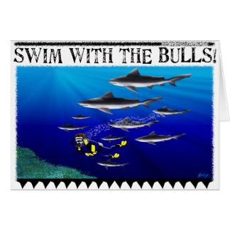 Bain avec la carte de taureaux (blanc)