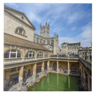 Bains romains à Bath Angleterre Carreau