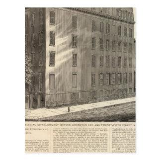 Bains turcs et romains d'avenue de Lexington Carte Postale