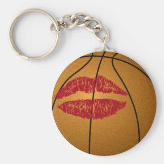 baiser de basket-ball porte-clé rond
