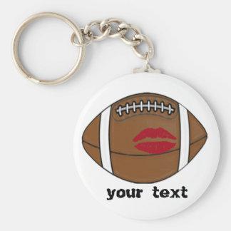 baiser du football porte-clé rond