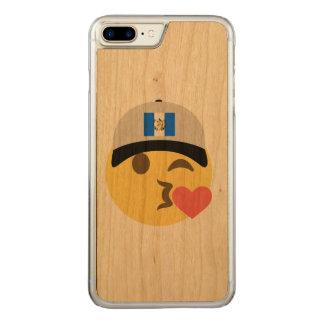 Baiser Emoji de casquette du Guatemala Coque Iphone 7 Plus En Bois
