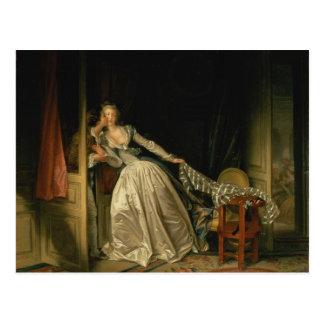 Baiser volé - Fragonard Cartes Postales
