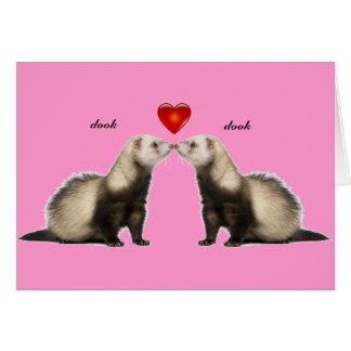 Baisers de la carte de Valentine de furets