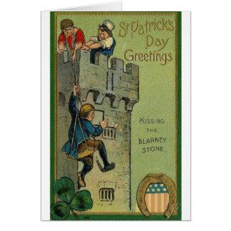 Baisers de la carte du jour de St Patrick de