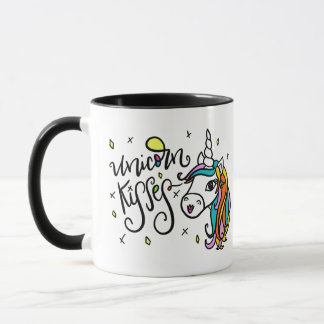 Baisers de licorne, main-en lettres mug