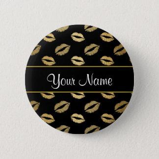Baisers de noir et d'or badge