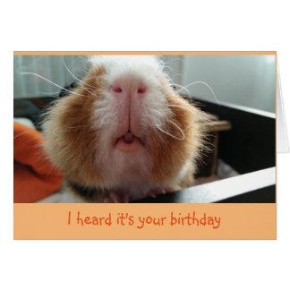 Baisers de Piggie et carte d'anniversaire bouclée