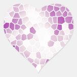 Baisers de raisin autocollant en cœur