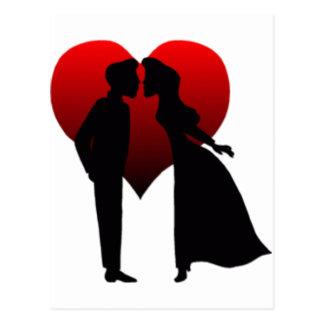 Baisers des couples carte postale