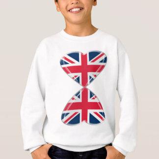 Baisers des drapeaux BRITANNIQUES de coeurs Sweatshirt