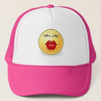 Baisers drôles d'Emoji de casquette