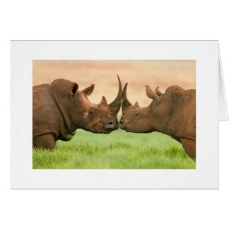 Baisers du rhinocéros carte de vœux