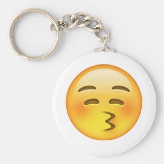 Baisers - Emoji Porte-clé Rond
