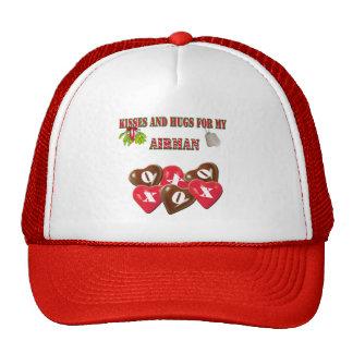 Baisers et étreintes pour mon chapeau d'aviateur casquette