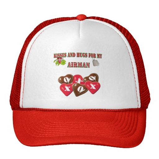 Baisers et étreintes pour mon chapeau d'aviateur casquette de camionneur