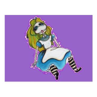 Baisse Alice morte Carte Postale