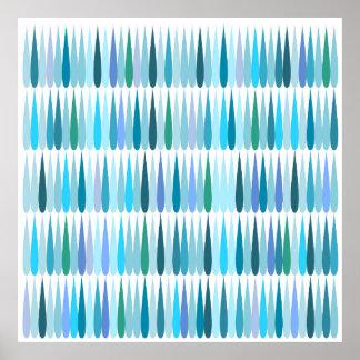 Baisses abstraites de bleu d'art de bruit affiche