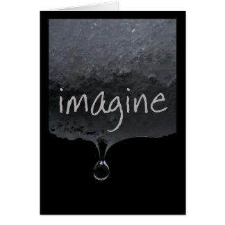 Baisses de mot de sérénité : Imaginez Carte De Vœux