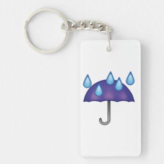 Baisses de pluie de parapluie - Emoji Porte-clés