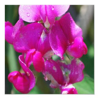 Baisses de rosée sur le pois doux carton d'invitation  13,33 cm