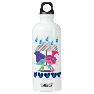 Baisses heureuses de pluie des trolls | bouteille d'eau en aluminium