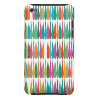 Baisses multicolores abstraites d art de bruit coque barely there iPod