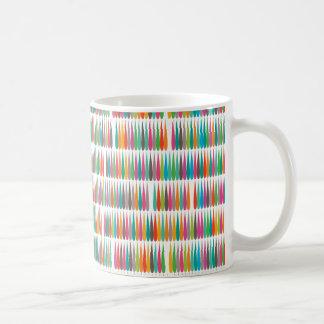 Baisses multicolores abstraites d art de bruit tasse à café