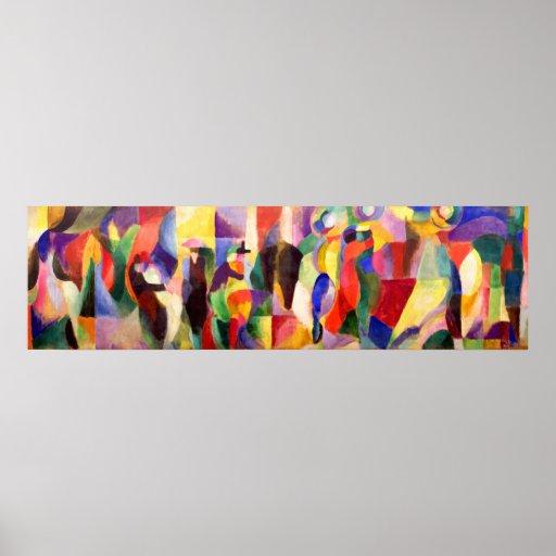 BAL Bullier - art abstrait de tango par Sonia Dela Affiche