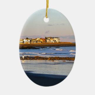 Balade d'océan ornement ovale en céramique