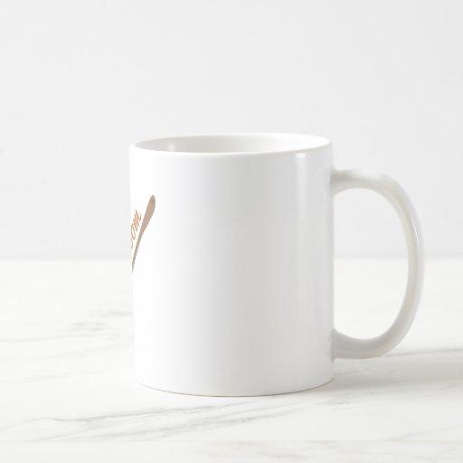 Balai de sorcières tasses