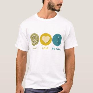Balalaïka d'amour de paix t-shirt