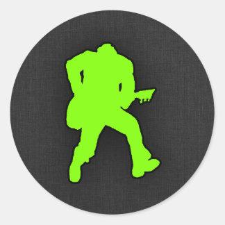 Balancier vert Chartreuse et au néon Sticker Rond