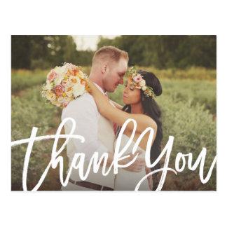 Balayé épousant la carte postale de Merci