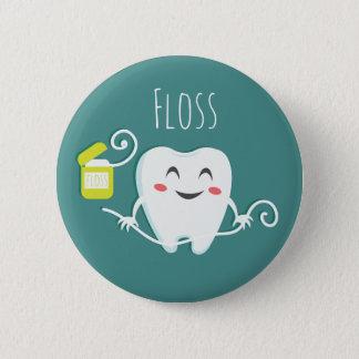 Balayez la norme de dentiste de dents, bouton rond badges