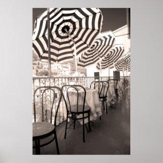 Balcon étrange de restaurant, Italie Poster