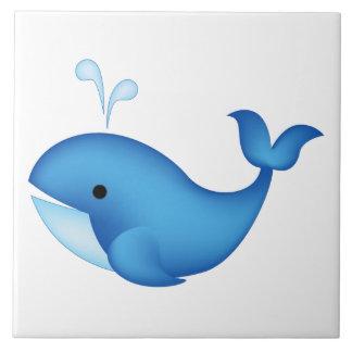 Baleine bleue grand carreau carré