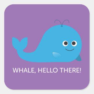 Baleine, bonjour là ! Autocollant