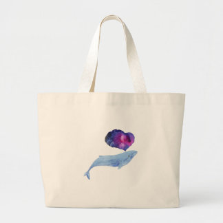 Baleine d'aquarelle grand sac