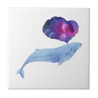 Baleine d'aquarelle petit carreau carré