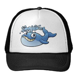 Baleine de bande dessinée casquette
