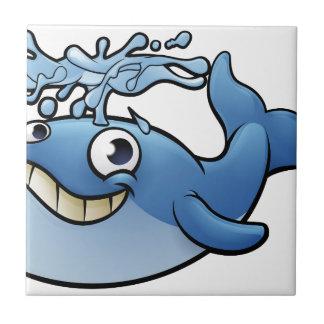Baleine de bande dessinée petit carreau carré