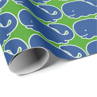 Baleine de très bon goût bleue nautique papier cadeau noël