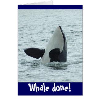 Baleine faite ! Carte de Congrats